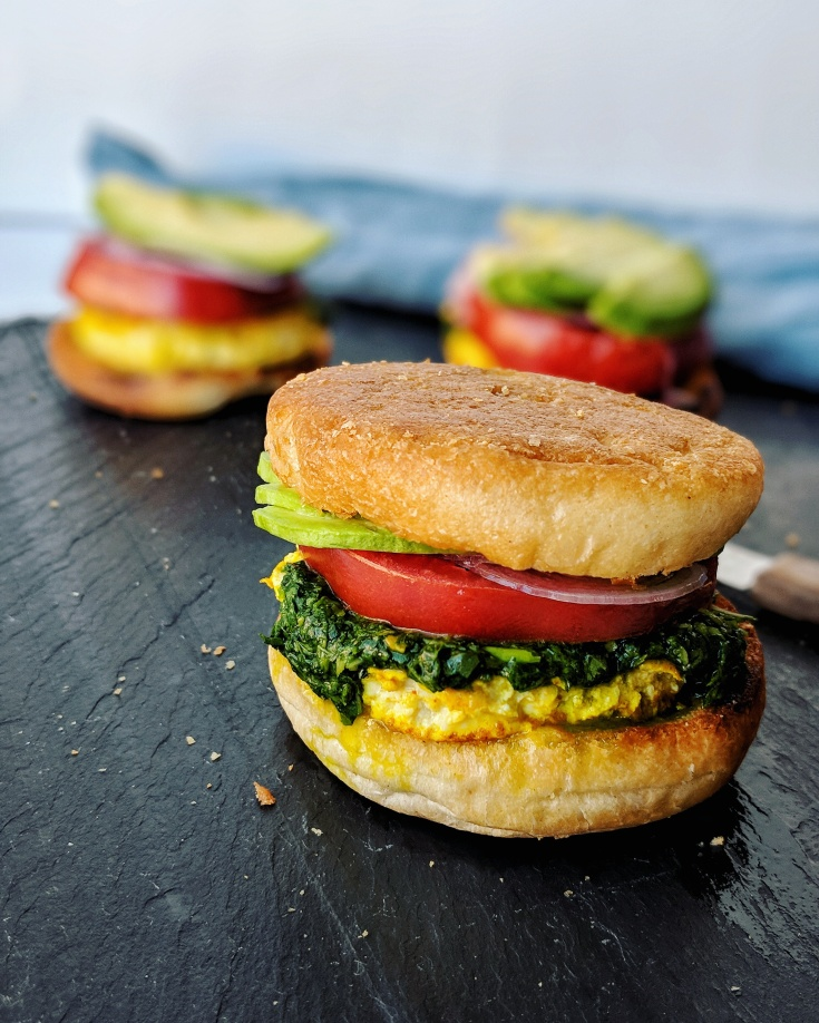 Basil & Cilantro Chimichurri Breakfast Sandwiches | à la laren