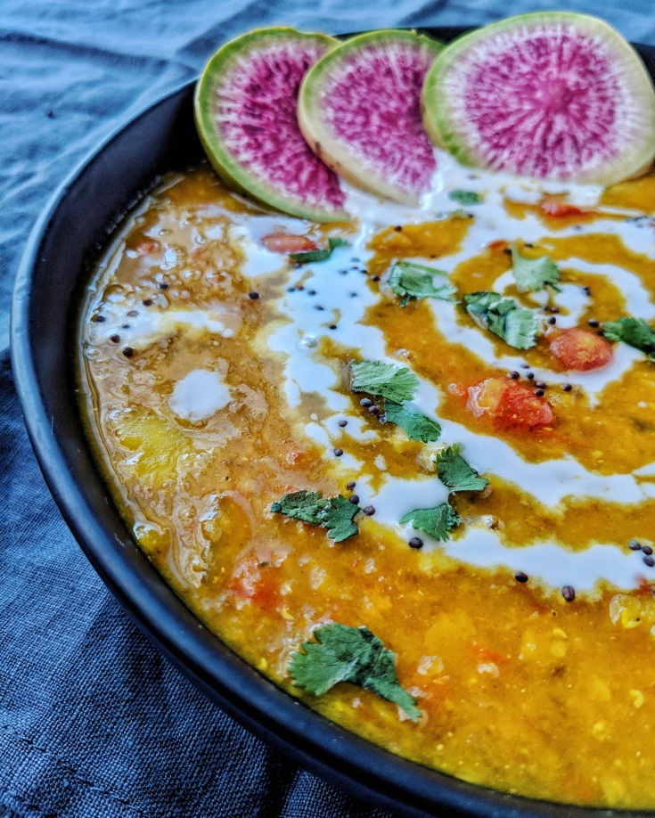 One Pot Creamy Lentil and Root Vegetable Dal | à la laren