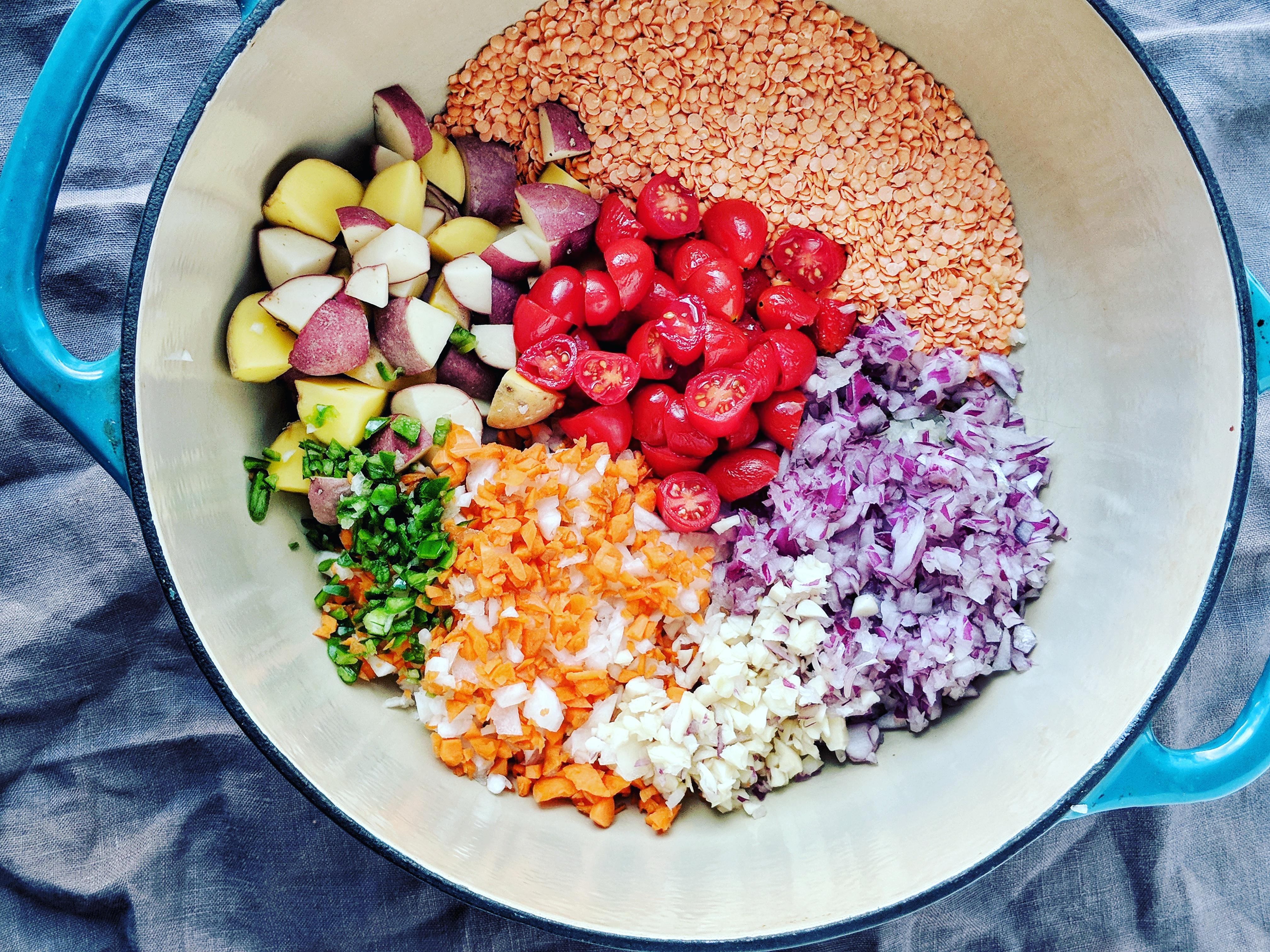 One Pot Creamy Lentil and Root Vegetable Dal | à la laren